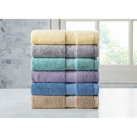 Home Resort Extravagant 6pc Towel Set with Slivadur Antibacterial Material