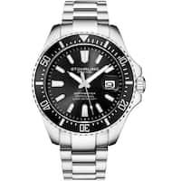 Stuhrling Original Men's Depthmaster Stainless Steel Bracelet Watch