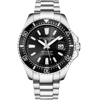 Link to Stuhrling Original Men's Depthmaster Stainless Steel Bracelet Watch Similar Items in Men's Watches