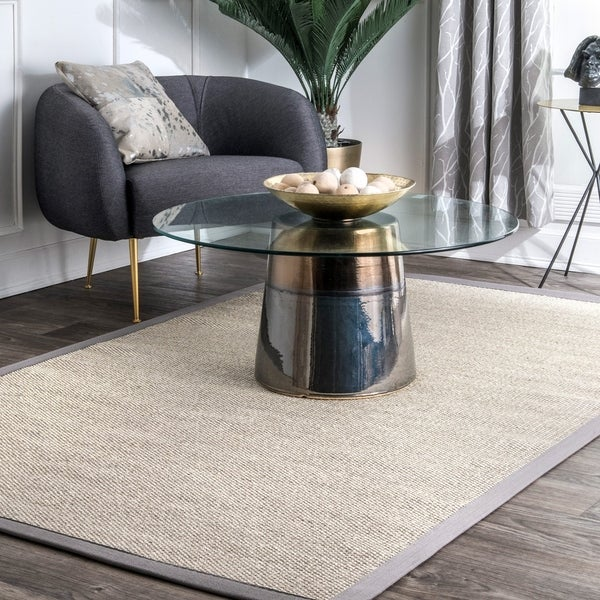 nuLOOM Casual Natural Fiber Sisal Solid Checker Framing Border Area Rug. Opens flyout.