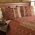 All-Cotton Sahara Vintage Red Paisley 3-Piece Quilt Set