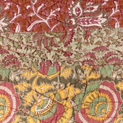 All-Cotton Sahara Vintage Red Paisley 3-Piece Quilt Set - Thumbnail 1