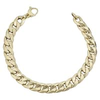 Fremada Italian 14k Yellow Gold 9.4 millimeters Cuban Curb Link Bracelet (8.5 inches)