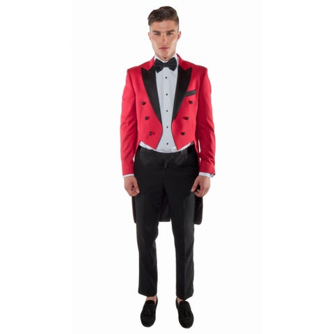 Ferrecci Regular Fit Red Tail Tuxedo Tailcoat and Trousers