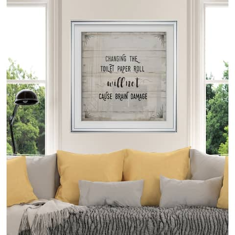TP Roll -Custom Framed Print - blue, white, grey, yellow, green, silver, gold