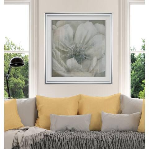 Opalescence I -Custom Framed Print - blue, white, grey, yellow, green, silver, gold