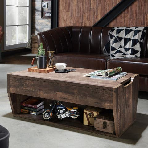 Furniture of America Rere Rustic Oak Lift-top Coffee Table