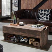 Furniture of America Jameson Rustic Reclaimed Oak Lift-top Coffee Table