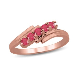 10K Rose Gold Genuine Birthstone Ring