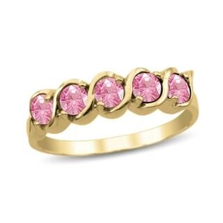 10K Yellow Gold Genuine Birthstone Ring