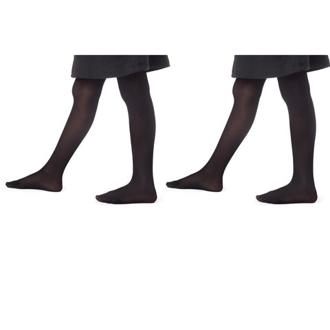 Girl's Opaque Dance footed tights (2pack)