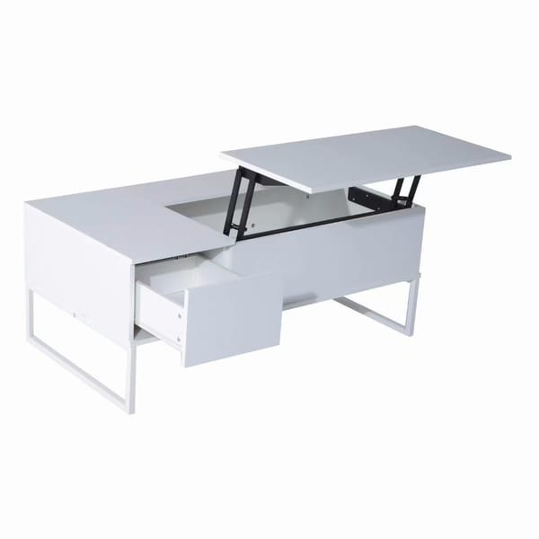 Shop White Lift Top Coffee Table With Hidden Compartment