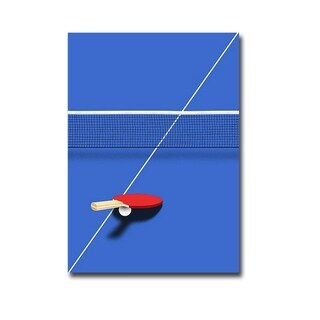 Pingpong by Robert Farkas Gallery Wrapped Canvas Giclee Art