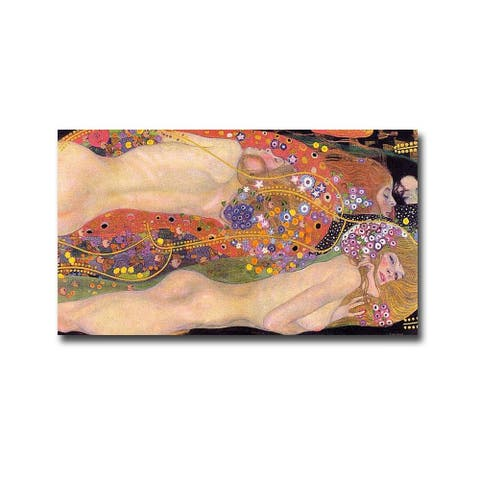 Water Serpents II by Gustav Klimt Gallery Wrapped Canvas Giclee Art