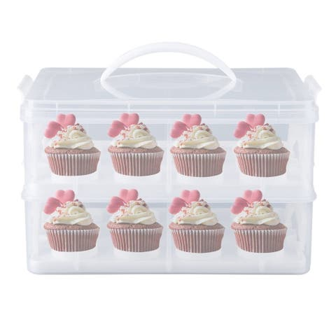 Cupcake Carrier Mini Cake Box Cup Cake Holder Storage Container Carrying Case