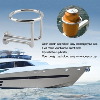2PCS/SET Practical Stainless Steel Car Boat Cup Holder for Marine Yacht