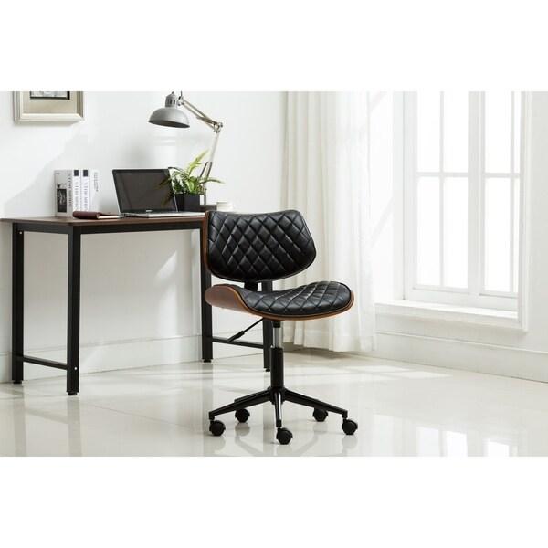 Shop Porthos Home Office Chair, Bentwood Walnut Veneer