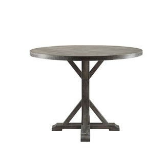 ACME Carmelina Counter Height Table in Weathered Gray Oak