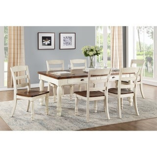 ACME Britta Side Chair - Set of 2 in Walnut and White Washed