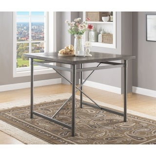 ACME Kaelyn II Counter Height Table in Gray Oak and Sandy Gray