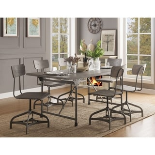 ACME Jonquil Side Chair - Set of 2 in Gray Oak and Sandy Gray