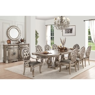 ACME Northville Dining Table in Antique Champagne
