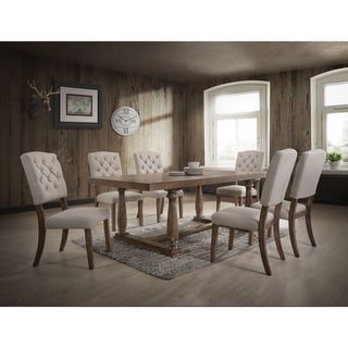 Link to ACME Bernard Dining Table in Weathered Oak Similar Items in Dining Room & Bar Furniture