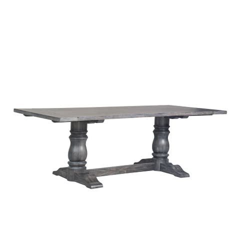 ACME Leventis II Dining Table in Weathered Gray