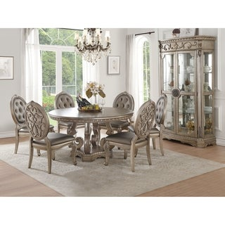 Link to ACME Northville Dining Table in Antique Champagne Similar Items in Dining Room & Bar Furniture