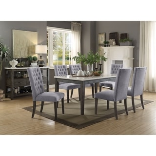 Link to ACME Merel Marble and Grey Oak Dining Table Similar Items in Dining Room & Bar Furniture