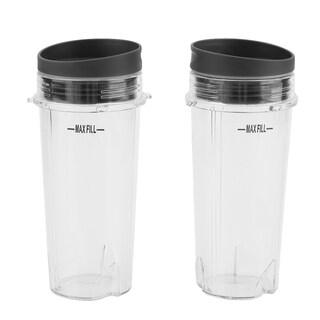 2 Pcs Serve Travel 16-OZ Shaker Juicer Blender Mixer Large Cup Drinking Tool