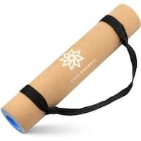 Life Energy 5mm EkoSmart Cork Yoga Mat with Yoga Strap - brown - 72 inches
