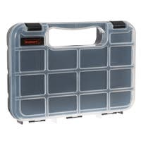 Portable Storage Case with Secure Locks and 14 Small Bin Compartments Stalwart