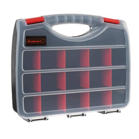 Portable Storage Case with Secure Locks and 17 Compartments Stalwart