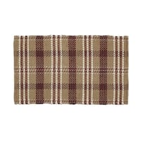 VHC Brands Rustic and Lodge Berkeley Loom Woven Tan Rectangle Wool and Cotton Rug 20x30