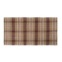 VHC Brands Rustic and Lodge Berkeley Loom Woven Tan Rectangle Wool and Cotton Rug 27x48
