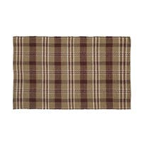VHC Brands Rustic and Lodge Berkeley Loom Woven Tan Rectangle Wool and Cotton Rug 36x60