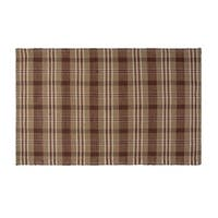 VHC Brands Rustic and Lodge Berkeley Loom Woven Tan Rectangle Wool and Cotton Rug 48x72