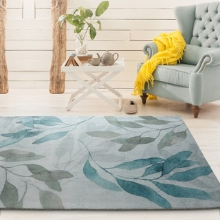 "Rugsmith Teal Meadow Contemporary Floral Area Rug - 7'6"" x 9'6"""