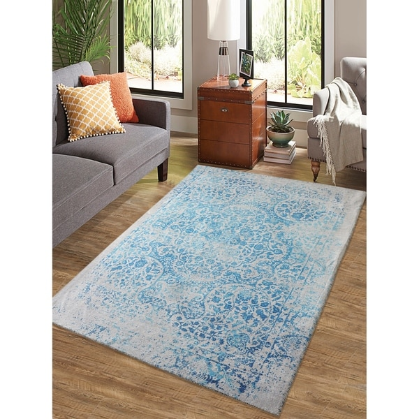 "Rugsmith Blue Palace Distressed Boho Area Rug - 7'6"" x 9'6"""