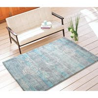 "Rugsmith Turquoise Mirage Distressed Boho Area Rug, 7'6"" x 9'6"" - 7'6 x 9'6"