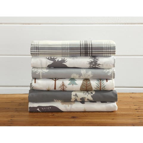 Lodge Printed Ultra-Smooth Microfiber Sheet Set by Great Bay Home