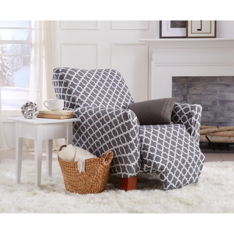 Home Fashion Designs Brenna Collection Stretch Fit Form Fitting Printed Recliner Slipcover