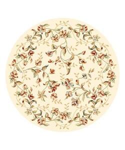 Safavieh Lyndhurst Traditional Floral Beige Rug (5' 3 x 5' 3 Round)
