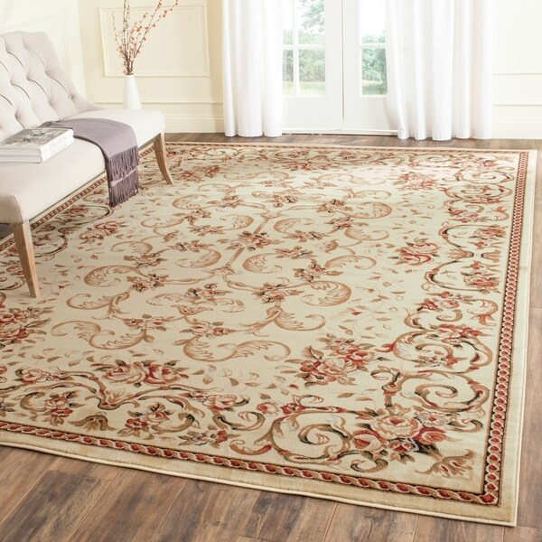 Safavieh Lyndhurst Traditional Floral Ivory Rug - 8' x 11'
