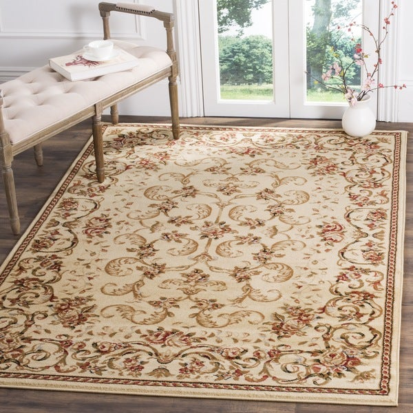 Safavieh Lyndhurst Traditional Floral Ivory Rug (8' x 11')