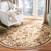"Safavieh Lyndhurst Traditional Floral Ivory Rug - 5'3"" x 5'3"" round"