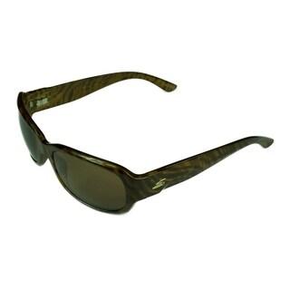 Serengeti Chloe Sunglasses Honey Stripe Tortoise w/ Polarized Drivers Lens - Medium