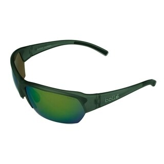 Bolle Ransom Sunglasses Satin Crystal Gray w/ Polarized Brown Emerald Lens - Grey - Medium