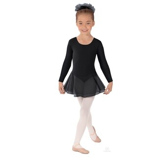 Eurotard girls Long Sleeve Leotard with Double Layer Skirt (10465) (5 options available)